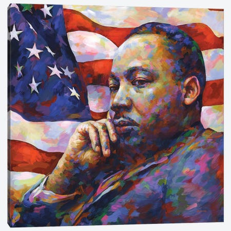 Martin Luther King Jr. Canvas Print #DVI229} by Leon Devenice Canvas Print