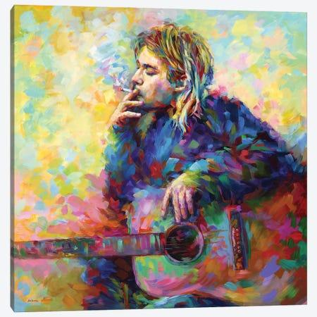 Kurt Cobain Canvas Print #DVI231} by Leon Devenice Canvas Artwork