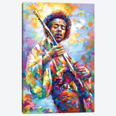 Jimi Hendrix Canvas Print #DVI233} by Leon Devenice Canvas Artwork