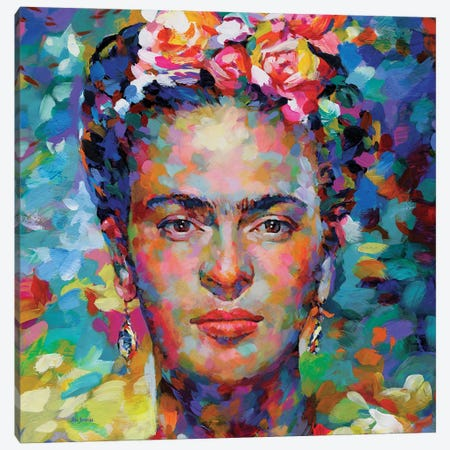 Frida Kahlo Canvas Print #DVI236} by Leon Devenice Art Print