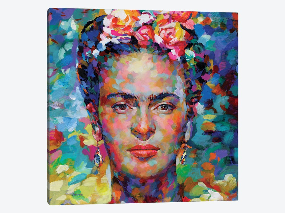 Frida Kahlo by Leon Devenice 1-piece Canvas Print