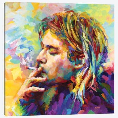 Kurt Cobain II Canvas Print #DVI237} by Leon Devenice Canvas Print