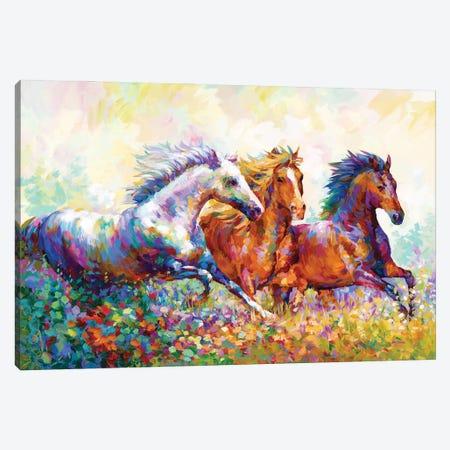Running Free II Canvas Print #DVI239} by Leon Devenice Canvas Artwork