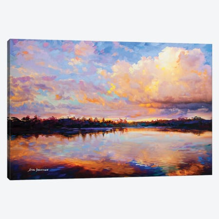 Evening Grace Canvas Print #DVI23} by Leon Devenice Canvas Art Print