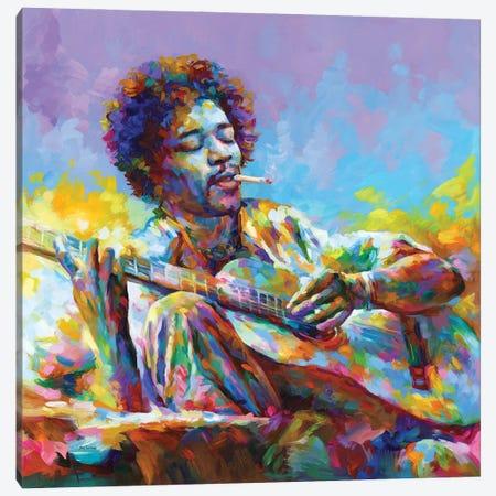 Jimi Hendrix II Canvas Print #DVI241} by Leon Devenice Art Print