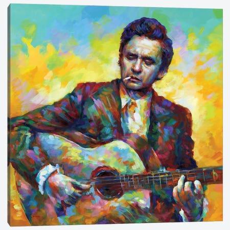 Johnny Cash Canvas Print #DVI242} by Leon Devenice Canvas Print