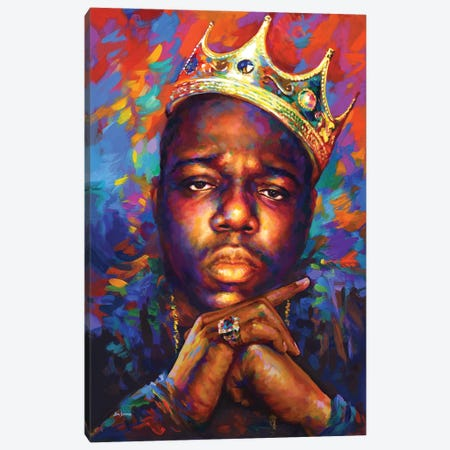 Notorious B.I.G. Canvas Print #DVI244} by Leon Devenice Canvas Wall Art