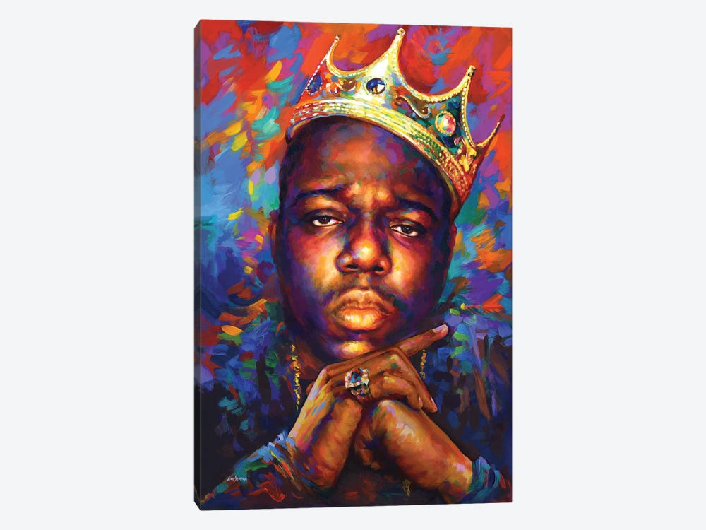 Notorious B.I.G. by Leon Devenice 1-piece Canvas Artwork