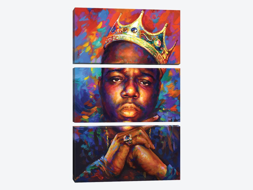 Notorious B.I.G. by Leon Devenice 3-piece Canvas Wall Art