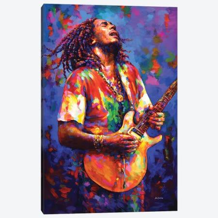 Bob Marley Canvas Print #DVI245} by Leon Devenice Canvas Artwork