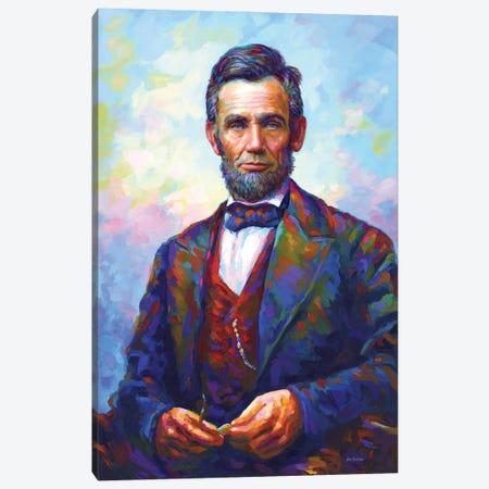 Abraham Lincoln Canvas Print #DVI248} by Leon Devenice Canvas Art Print