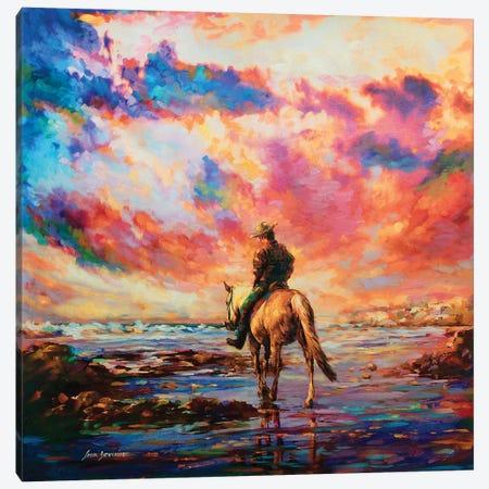 Evening Ride Canvas Print #DVI24} by Leon Devenice Canvas Wall Art