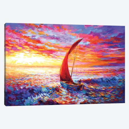 Journey To The Heart II Canvas Print #DVI251} by Leon Devenice Canvas Wall Art