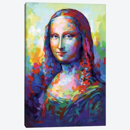 Mona Lisa,A Homage To Leonardo Da Vinci Canvas Print #DVI267} by Leon Devenice Canvas Artwork