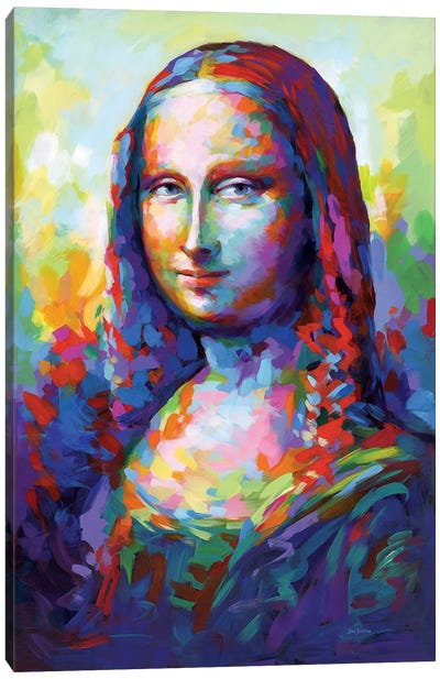 Mona Lisa,A Homage To Leonardo Da Vinci Canvas Art Print
