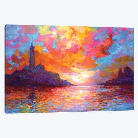 Sunset In Venice,A Homage To Claude Monet Canvas Print #DVI268} by Leon Devenice Canvas Art Print
