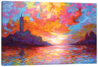 Sunset In Venice,A Homage To Claude Monet Canvas Art Print