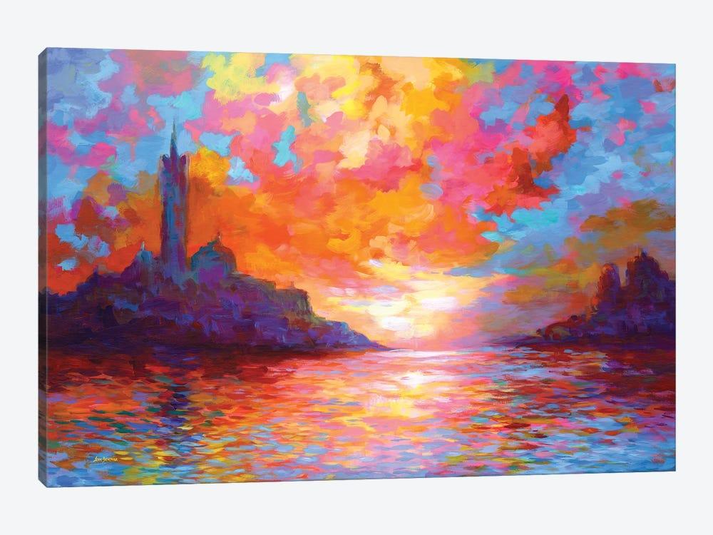 Sunset In Venice,A Homage To Claude Monet by Leon Devenice 1-piece Canvas Artwork