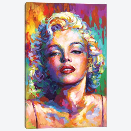Marilyn Monroe V Canvas Print #DVI270} by Leon Devenice Canvas Wall Art