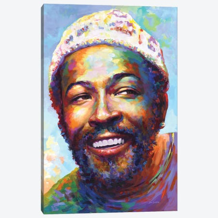 Marvin Gaye I Canvas Print #DVI271} by Leon Devenice Canvas Art