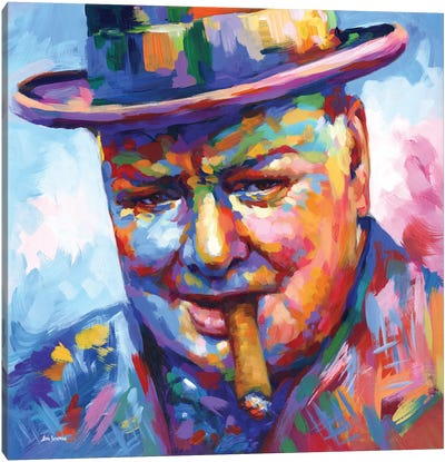 Winston Churchill Canvas Art Print