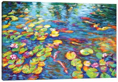 Koi Fish and Water Lilies Canvas Art Print