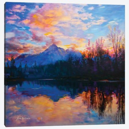 Finding Tranquility Canvas Print #DVI28} by Leon Devenice Art Print
