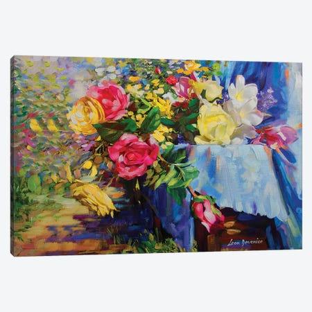 Flowers Of Grace Canvas Print #DVI29} by Leon Devenice Art Print