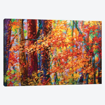 Forest Of The Heart Canvas Print #DVI32} by Leon Devenice Canvas Wall Art