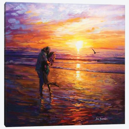 Forever Love Canvas Print #DVI33} by Leon Devenice Canvas Artwork
