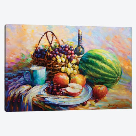 Fruits And Wine Canvas Print #DVI36} by Leon Devenice Art Print