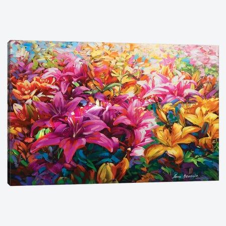 Garden Of Light Canvas Print #DVI37} by Leon Devenice Art Print