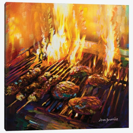Hells Kitchen Canvas Print #DVI39} by Leon Devenice Canvas Wall Art