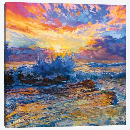 Infinity 3-Piece Canvas #DVI40} by Leon Devenice Art Print