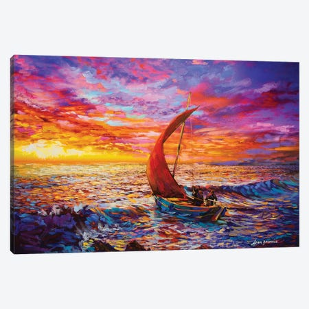 Journey To The Heart Canvas Print #DVI41} by Leon Devenice Canvas Art Print
