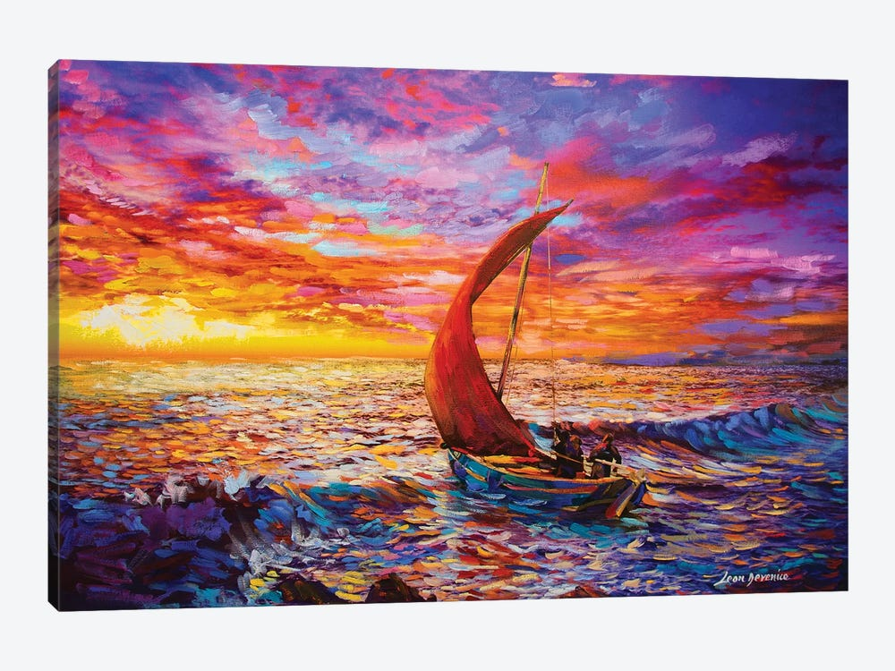 Journey To The Heart by Leon Devenice 1-piece Canvas Art
