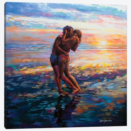 Kiss Me Again Canvas Print #DVI42} by Leon Devenice Art Print