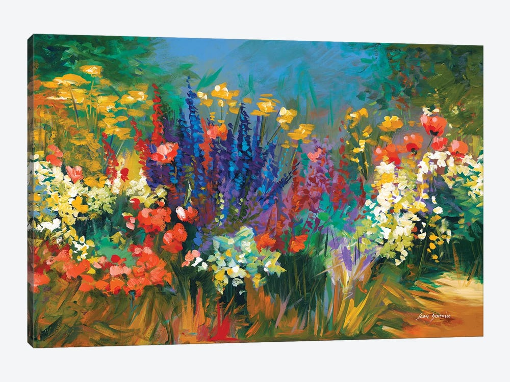 Language Of Flowers by Leon Devenice 1-piece Canvas Art Print