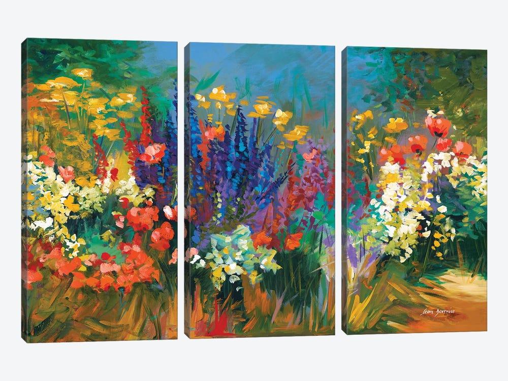 Language Of Flowers by Leon Devenice 3-piece Canvas Print