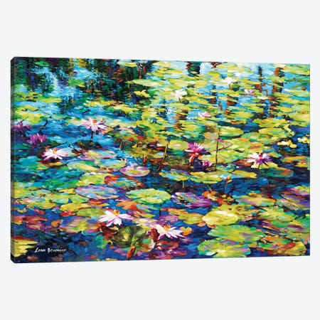 Lilies Of The Pond Canvas Print #DVI45} by Leon Devenice Canvas Art