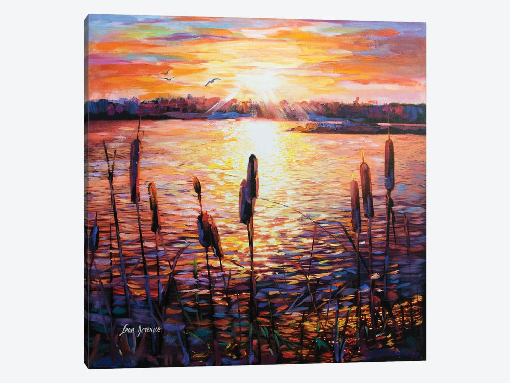 Memories By The Lake by Leon Devenice 1-piece Canvas Print