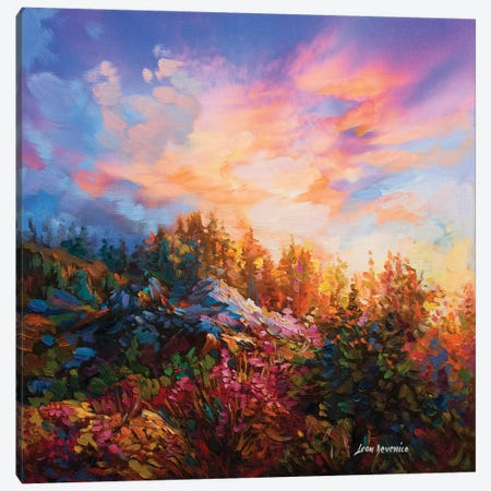 A Poetic Expression Of A New Day Canvas Print #DVI4} by Leon Devenice Canvas Wall Art
