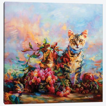 Meow Canvas Print #DVI50} by Leon Devenice Canvas Art