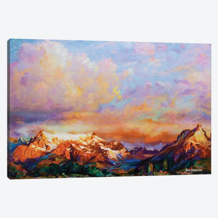 Morning Charm Canvas Print #DVI52} by Leon Devenice Canvas Art