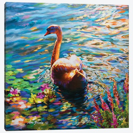 Morning Joy Canvas Print #DVI53} by Leon Devenice Canvas Artwork