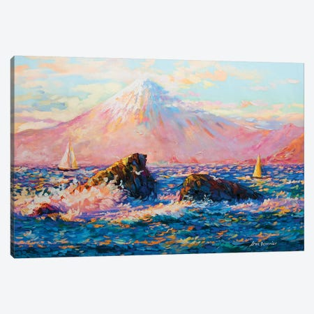Mount Fuji Canvas Print #DVI55} by Leon Devenice Canvas Print