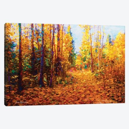 Romance Of The Forest Canvas Print #DVI67} by Leon Devenice Canvas Art