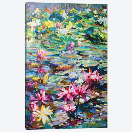 Sacred Lily Pond Canvas Print #DVI68} by Leon Devenice Canvas Print