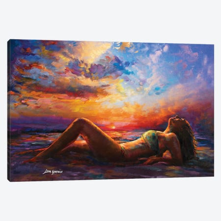 Summer Vibes Canvas Print #DVI79} by Leon Devenice Canvas Wall Art