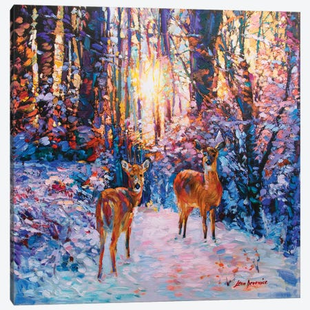 A Winters Tale Canvas Print #DVI7} by Leon Devenice Canvas Art